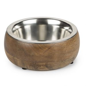 2IN1 WOOD/STEEL BOWL MANDIRA