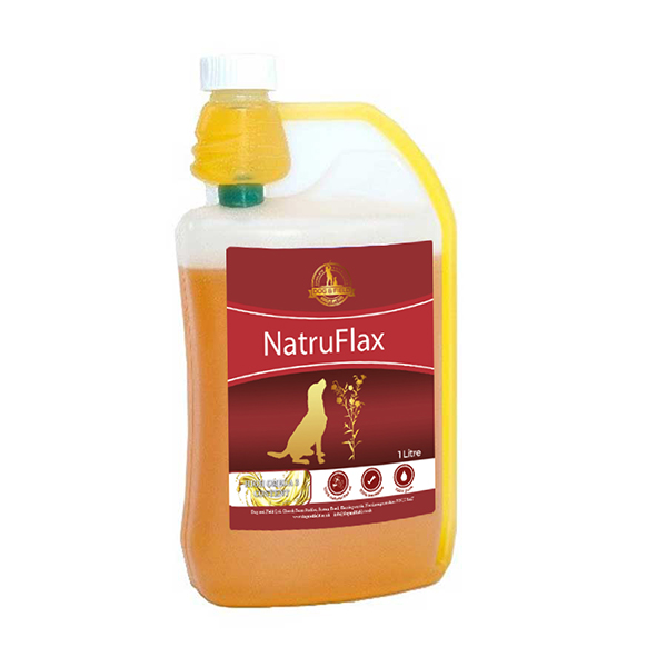 1 Litre NatruFlax Linseed Oil for Dogs