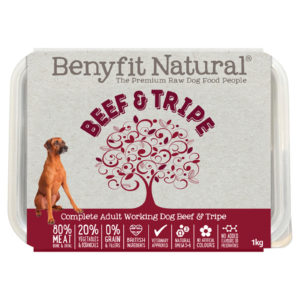 beef and tripe raw dog food