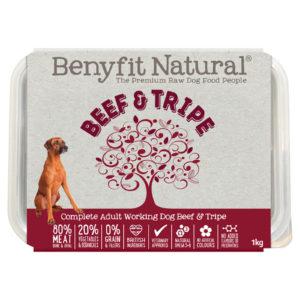 beef and tripe raw dog food