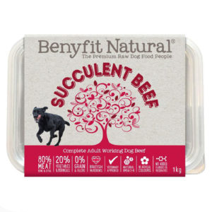 succulent beef raw dog food