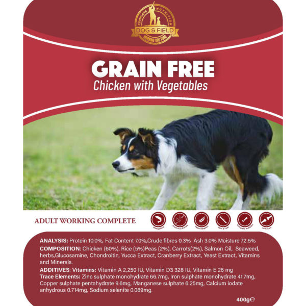 dog and field wet dog food tray
