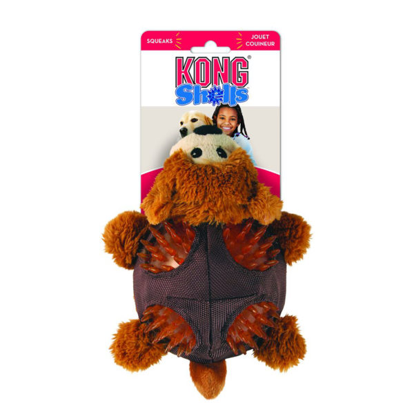 kong shells bear dog toy