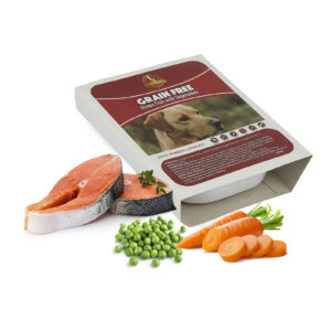 grain free fish wet dog food tray