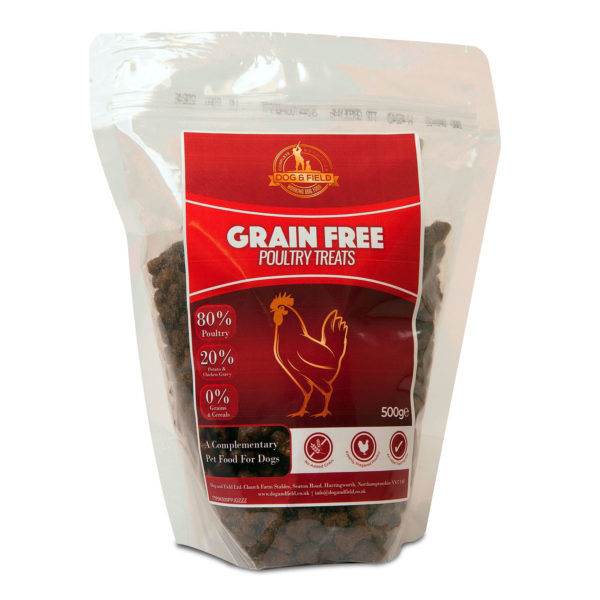 Dog and Field Grain Free Poultry Treats 500g