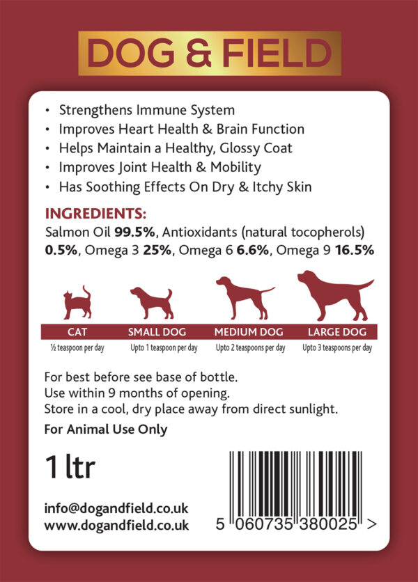 salmon oil for dogs from Dog & Field