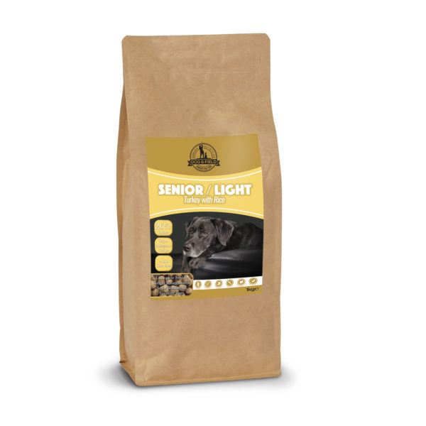 Dog & Field 1kg Senior Light dry dog food