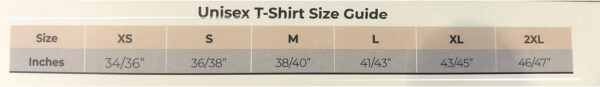 T-Shirt Size Guide 1