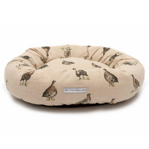 Grouse Linen Donut Dog Bed
