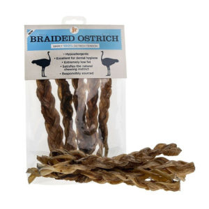 a natural, healthy ostrich treats for dogs
