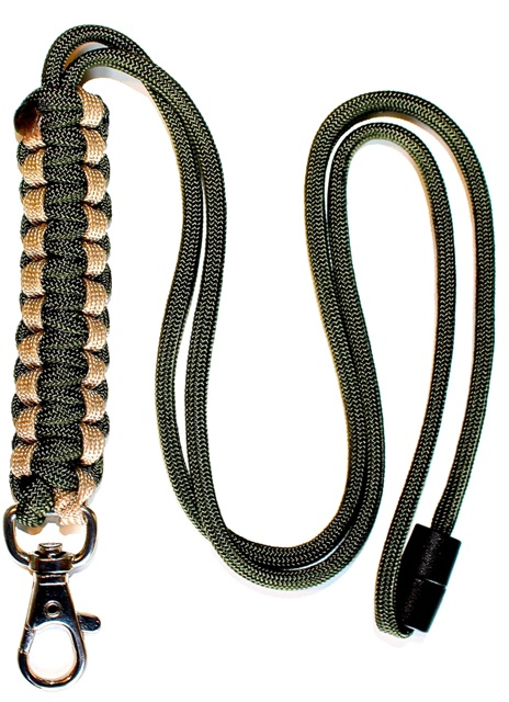 Cream & Olive Green - Cobra Lanyard-0