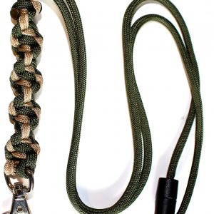 Cream & Olive Green - Twisted Lanyard-0