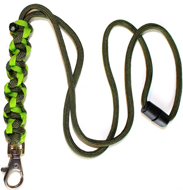Lime & Olive Green - Twisted Lanyard-0