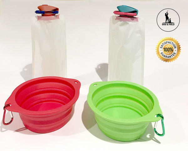 Collapsible Dog Bowl & Bottle Set-0