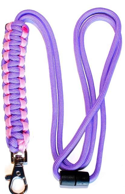 Pink & Lilac - Cobra Lanyard-0