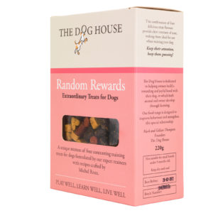random rewards dog biscuit box