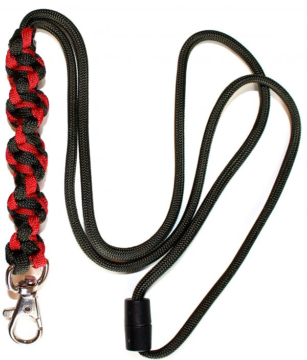 Red & Olive Green - Twisted Lanyard-0